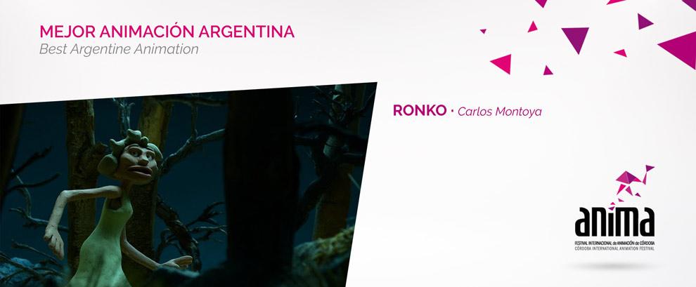 Mejor Animación Argentina: RONKO, Carlos Montoya