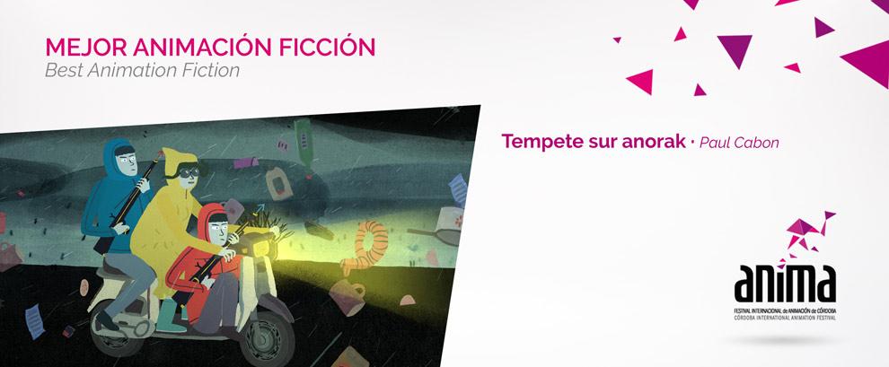 Mejor Animación, Ficción:  TEMPÊTE SUR ANORAK, Paul Cabon